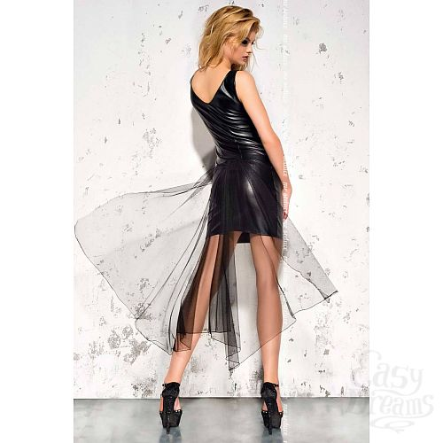 Фотография 2  Эротическое wet-look платье со шлейфом Jasmin
