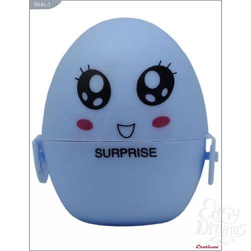 Фотография 1:  Голубой мастурбатор-яйцо SURPRISE PokeMon