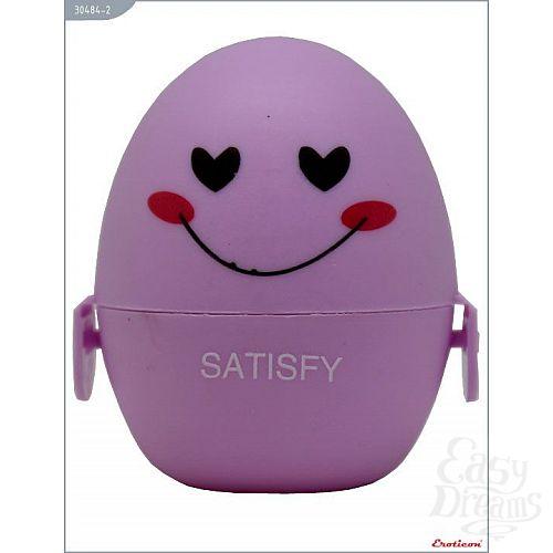 Фотография 1:  Сиреневый мастурбатор-яйцо SATISFY PokeMon