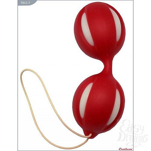 Фотография 1:  Красные вагинальные шарики с петлей