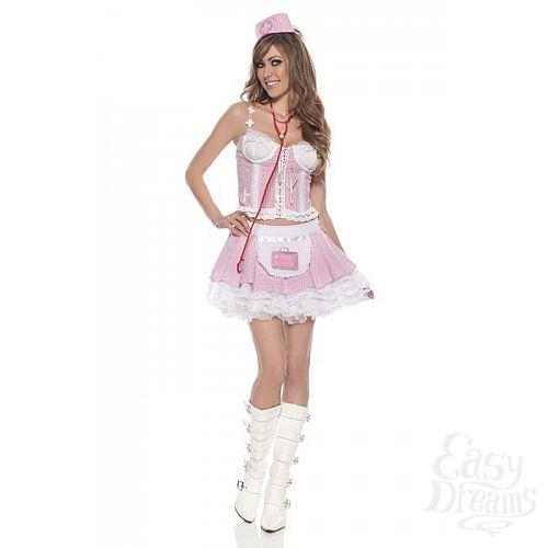 Фотография 1:  Нежно-розовый костюм медсестрички