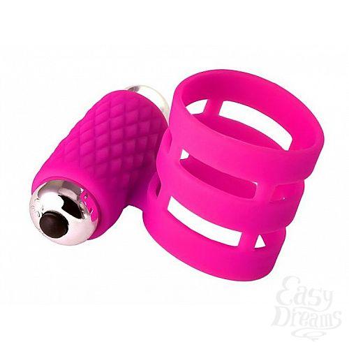 Фотография 1:  Розовое эрекционное виброкольцо ADMA