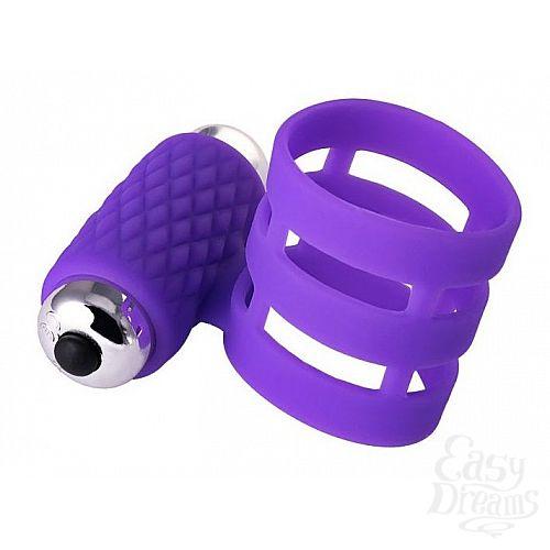Фотография 1:  Фиолетовое эрекционное виброкольцо ADMA