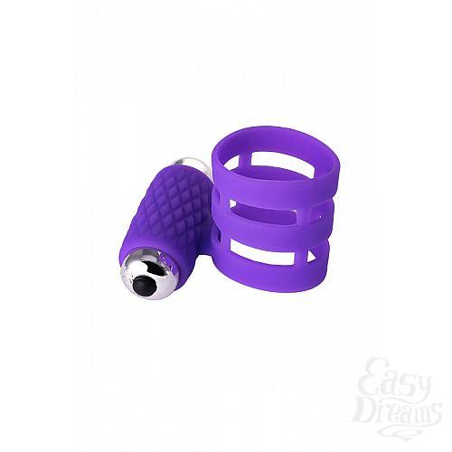 Фотография 2  Фиолетовое эрекционное виброкольцо ADMA