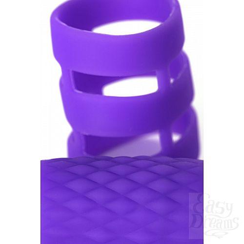 Фотография 3  Фиолетовое эрекционное виброкольцо ADMA