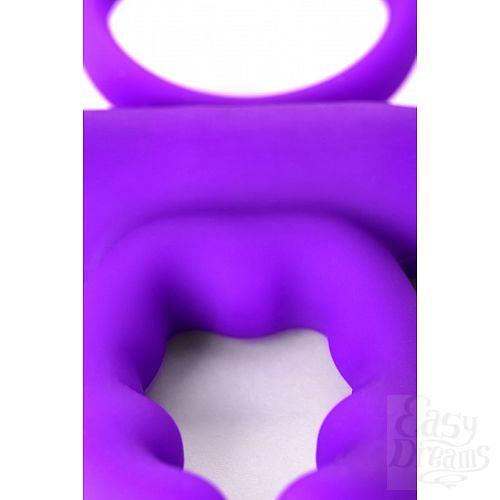 Фотография 4  Фиолетовое эрекционное виброкольцо ARES