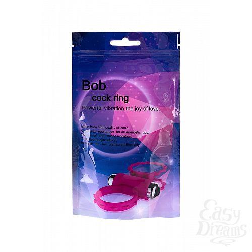 Фотография 3  Розовое эрекционное виброкольцо BOB