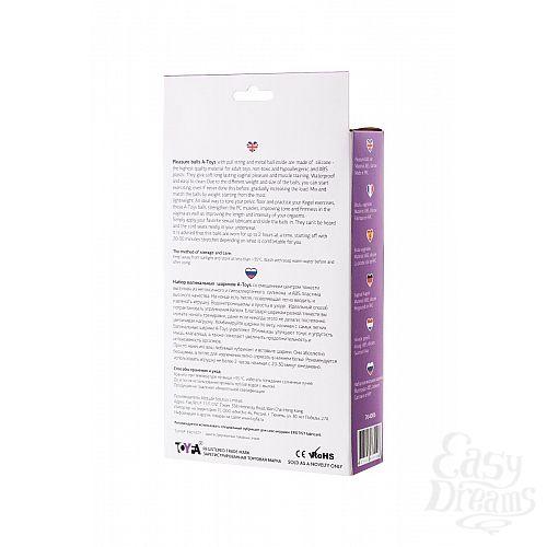 Фотография 5  Фиолетово-чёрный набор вагинальных шариков TOYFA A-toys