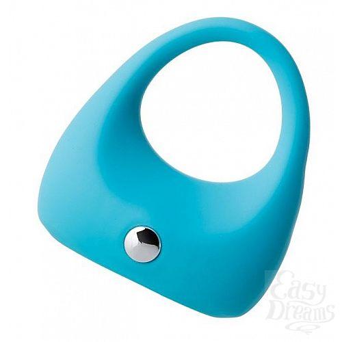 Фотография 1:  Голубое эрекционное виброкольцо TOYFA A-Toys из силикона
