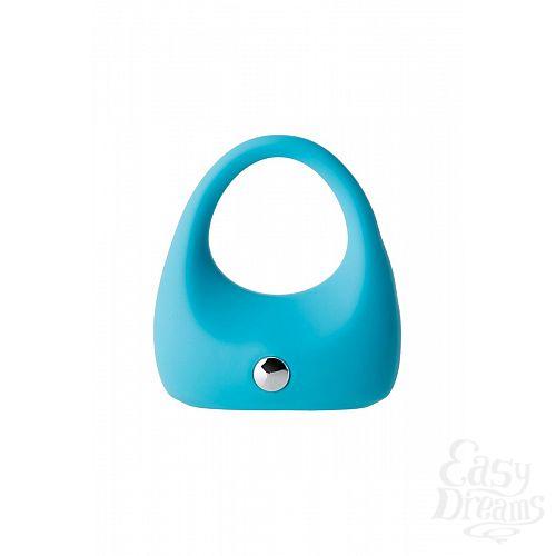 Фотография 2  Голубое эрекционное виброкольцо TOYFA A-Toys из силикона