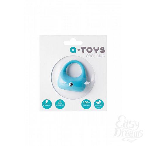Фотография 7  Голубое эрекционное виброкольцо TOYFA A-Toys из силикона