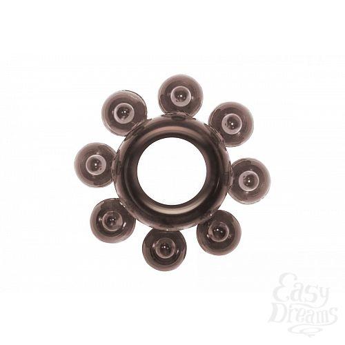 Фотография 1:  Чёрное эрекционное кольцо Rings Bubbles