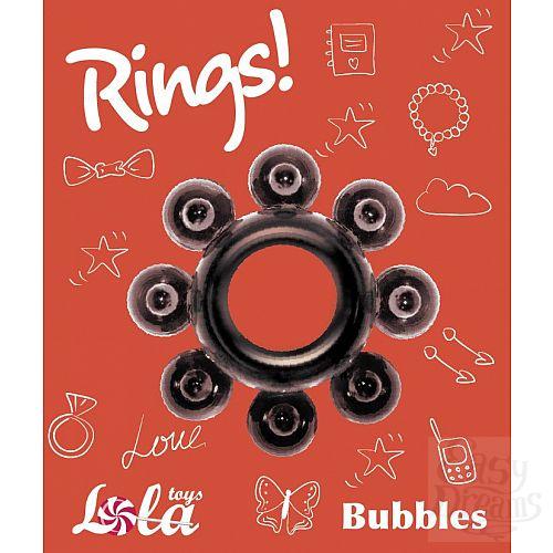 Фотография 2  Чёрное эрекционное кольцо Rings Bubbles