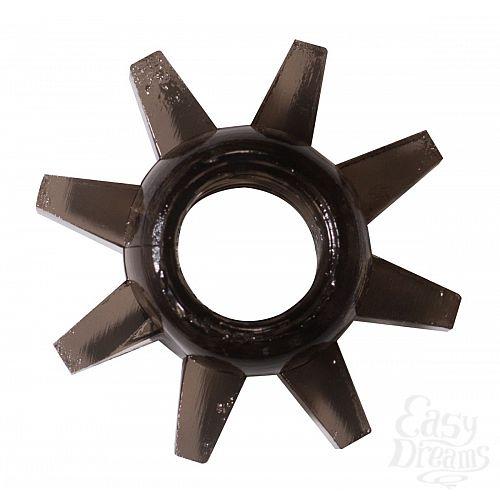 Фотография 1:  Чёрное эрекционное кольцо Rings Cogweel