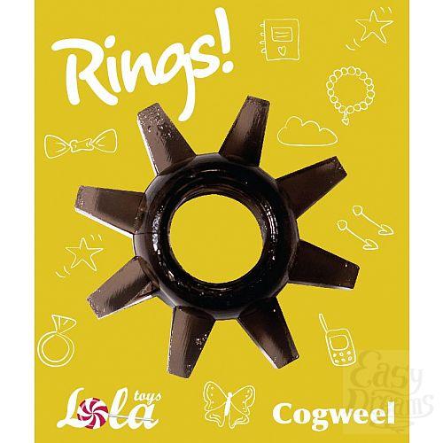 Фотография 2  Чёрное эрекционное кольцо Rings Cogweel