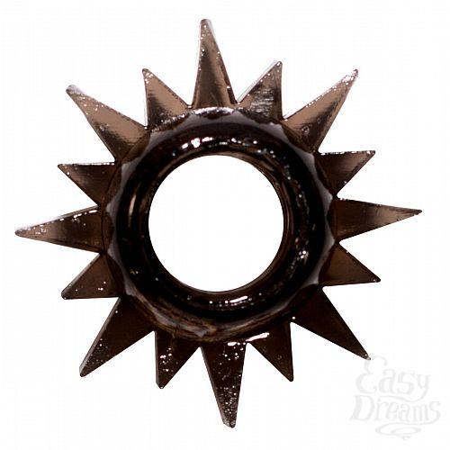Фотография 1:  Чёрное эрекционное кольцо Rings Cristal