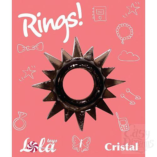 Фотография 2  Чёрное эрекционное кольцо Rings Cristal