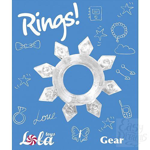 Фотография 2  Прозрачное эрекционное кольцо Rings Gear