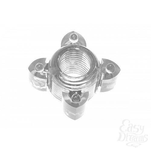 Фотография 1:  Прозрачное эрекционное кольцо Rings Screw