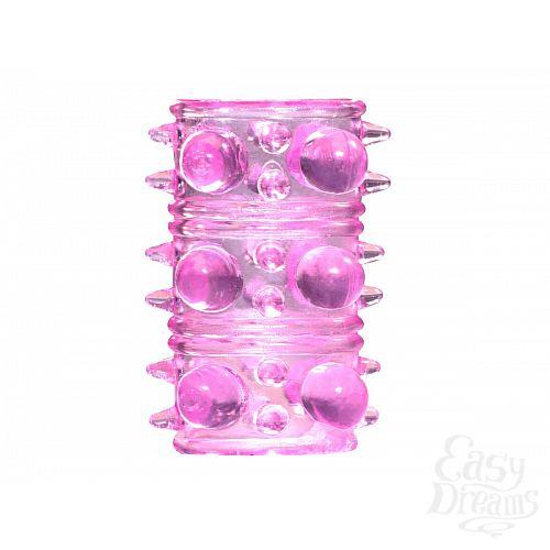 Фотография 1:  Розовая насадка на пенис Rings Armour