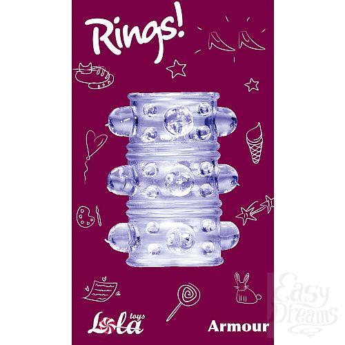 Фотография 3  Фиолетовая насадка на пенис Rings Armour