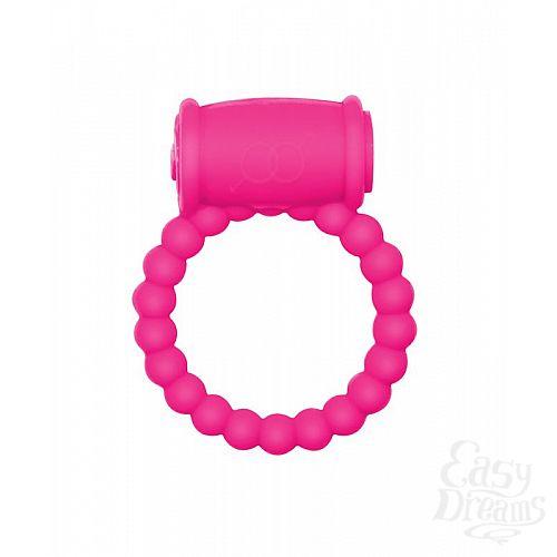 Фотография 1:  Розовое эрекционное кольцо Rings Drums