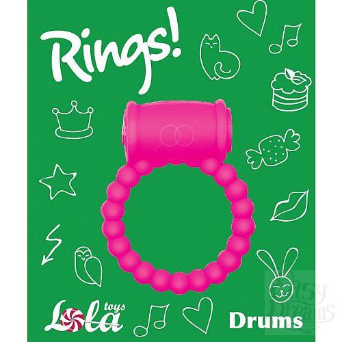 Фотография 3  Розовое эрекционное кольцо Rings Drums