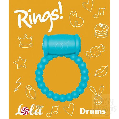 Фотография 3  Голубое эрекционное кольцо Rings Drums