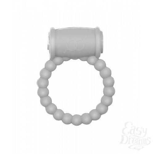 Фотография 1:  Белое эрекционное кольцо Rings Drums