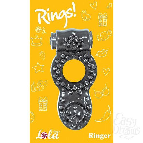 Фотография 2  Чёрное эрекционное кольцо Rings Ringer