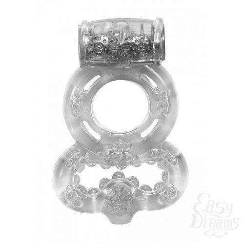 Фотография 1:  Прозрачное эрекционное кольцо Rings Treadle с подхватом