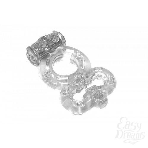 Фотография 2  Прозрачное эрекционное кольцо Rings Treadle с подхватом