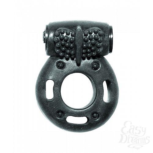 Фотография 1:  Черное эрекционное кольцо с вибрацией Rings Axle-pin