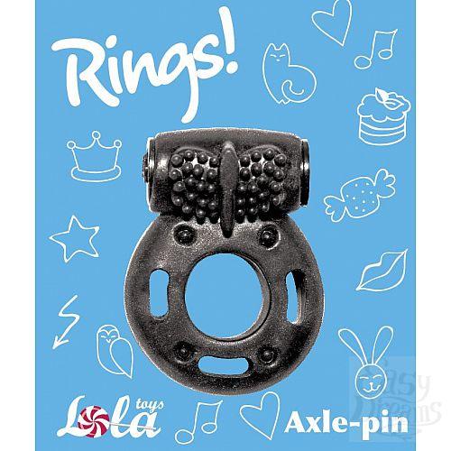 Фотография 2  Черное эрекционное кольцо с вибрацией Rings Axle-pin