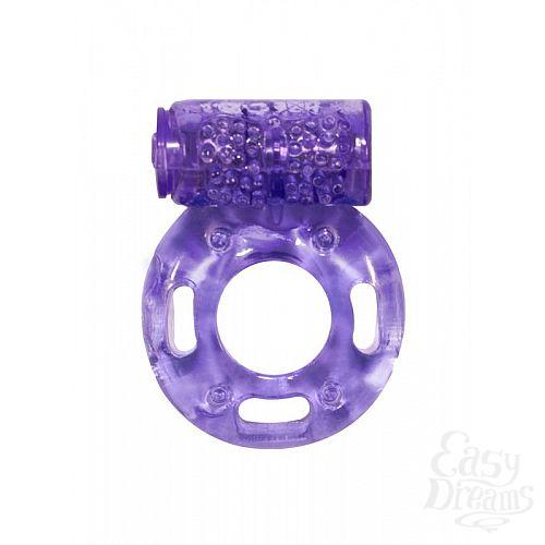 Фотография 1:  Фиолетовое эрекционное кольцо с вибрацией Rings Axle-pin