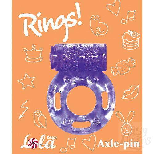 Фотография 3  Фиолетовое эрекционное кольцо с вибрацией Rings Axle-pin