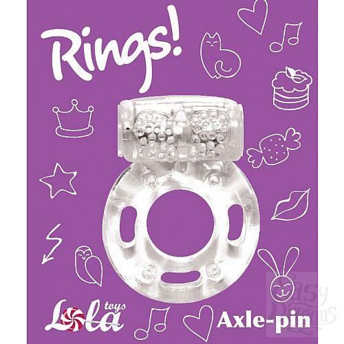 Фотография 3  Прозрачное эрекционное кольцо с вибрацией Rings Axle-pin
