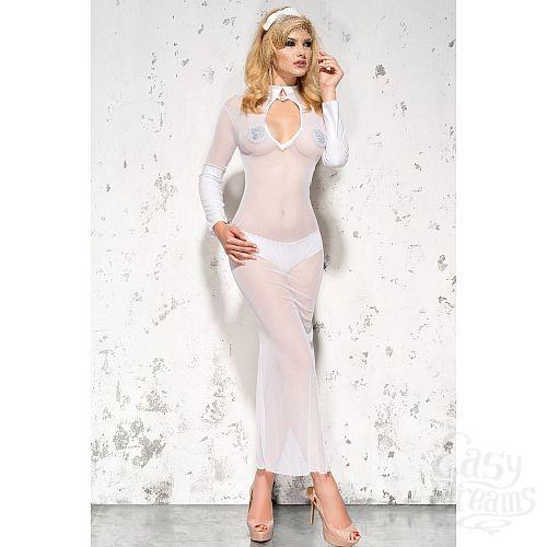 Фотография 2  Полупрозрачное длинное платье Sarah с воротником-стойкой
