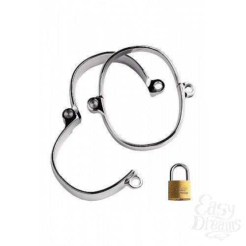 Фотография 2  Наручники из металла в виде браслетов с замком