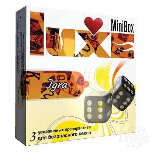 Фотография 1:  Презервативы Luxe Mini Box  Игра  - 3 шт.