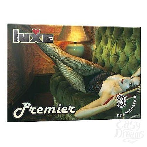 Фотография 1:  Презервативы Luxe Premier - 3 шт.