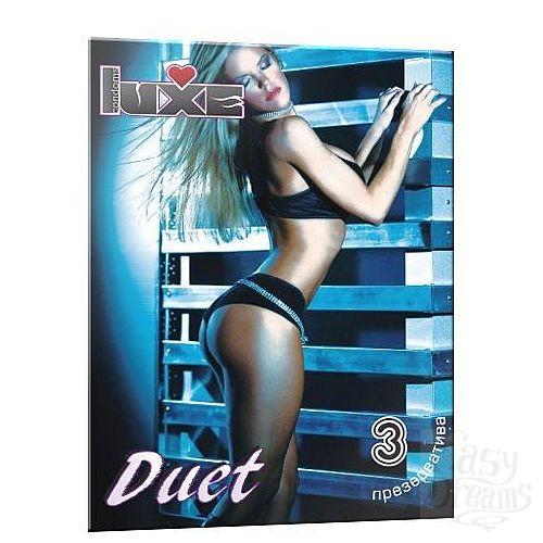 Фотография 1:  Презервативы Luxe Duet - 3 шт.