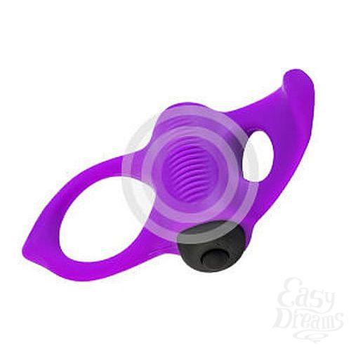 Фотография 5  Фиолетовое эрекционное виброкольцо Lingus MAX