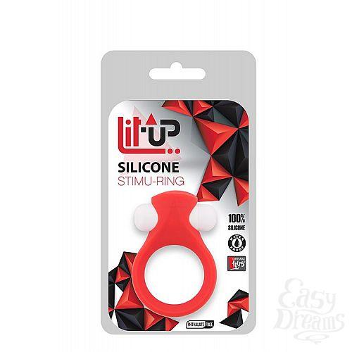 Фотография 2  Красное эрекционное кольцо LIT-UP SILICONE STIMU RING 2