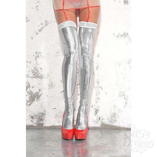 Фотография 4  Чулки wet-look с открытой пяткой и носком
