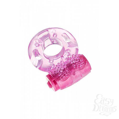 Фотография 3  Розовое эрекционное виброкольцо из эластичного геля