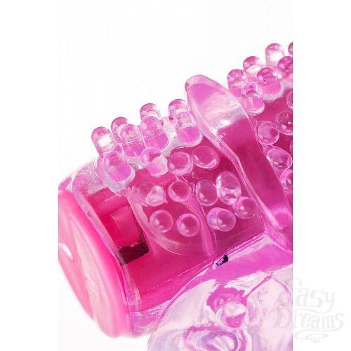 Фотография 5  Розовое эрекционное виброкольцо из эластичного геля