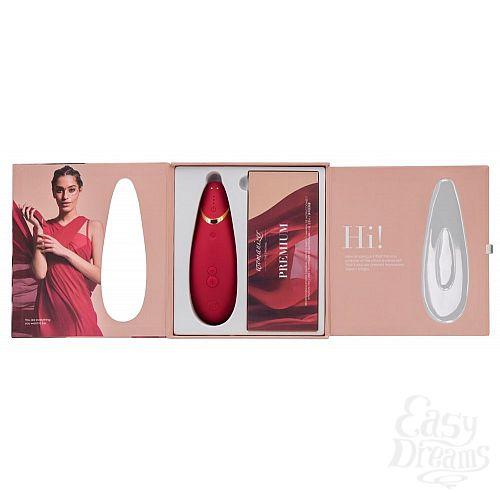 Фотография 6  Красный бесконтактный клиторальный стимулятор Womanizer Premium