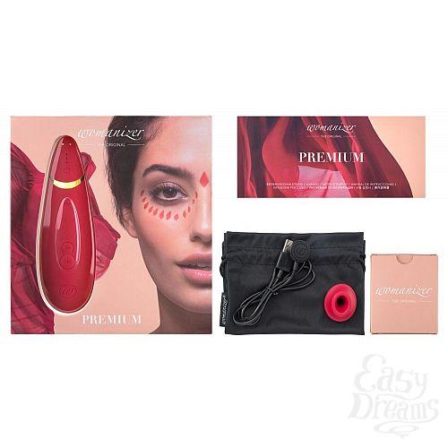 Фотография 7  Красный бесконтактный клиторальный стимулятор Womanizer Premium
