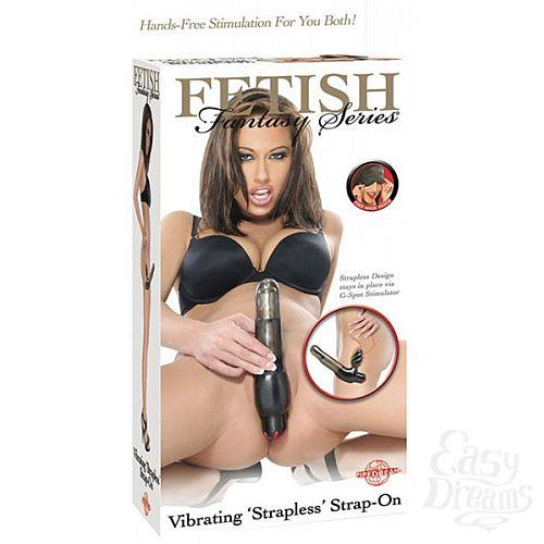 Фотография 1:  Безремневой вагинальный страпон для женщин с вибратором (Pipedream FETISH Line 388324)